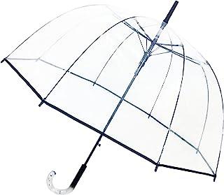 SMATI Parapluie Long Transparent – Forme Cloche ; Solide ; Ouverture Automatique ; Diamètre=85cm ; Poignée Transparente ; ...