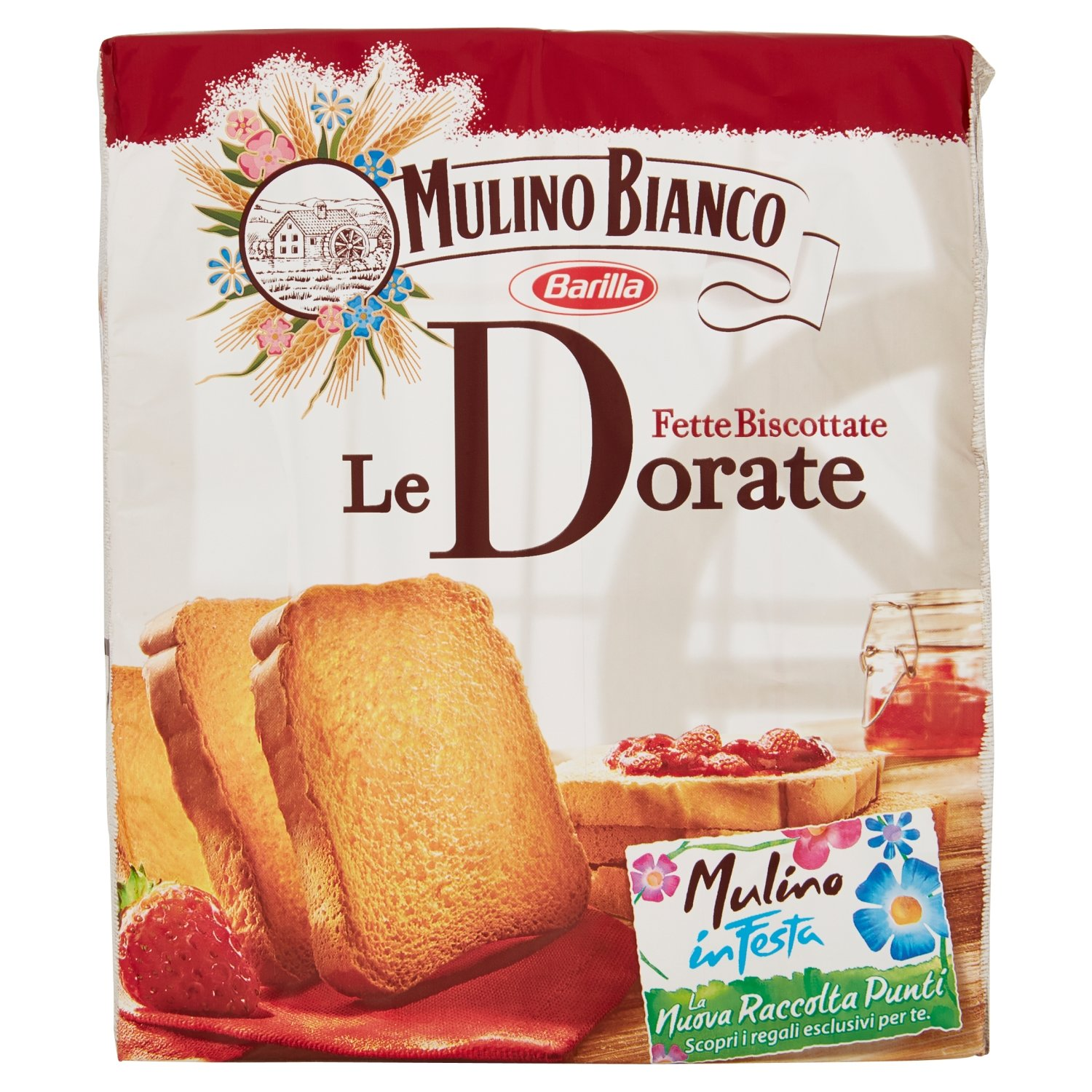 """Mulino Bianco: """" Le Dorate """" Fette Biscottate 36 count - Golden Rusks. Italian Toast - 11.11 Oz (315g) Pack of 2"""