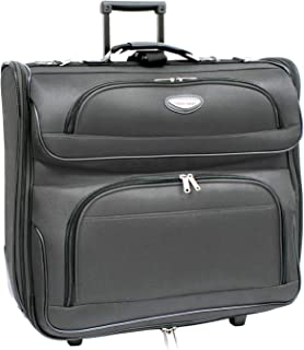 Travel Select Amsterdam Business Rolling Garment Bag with Protective Foam, Gray