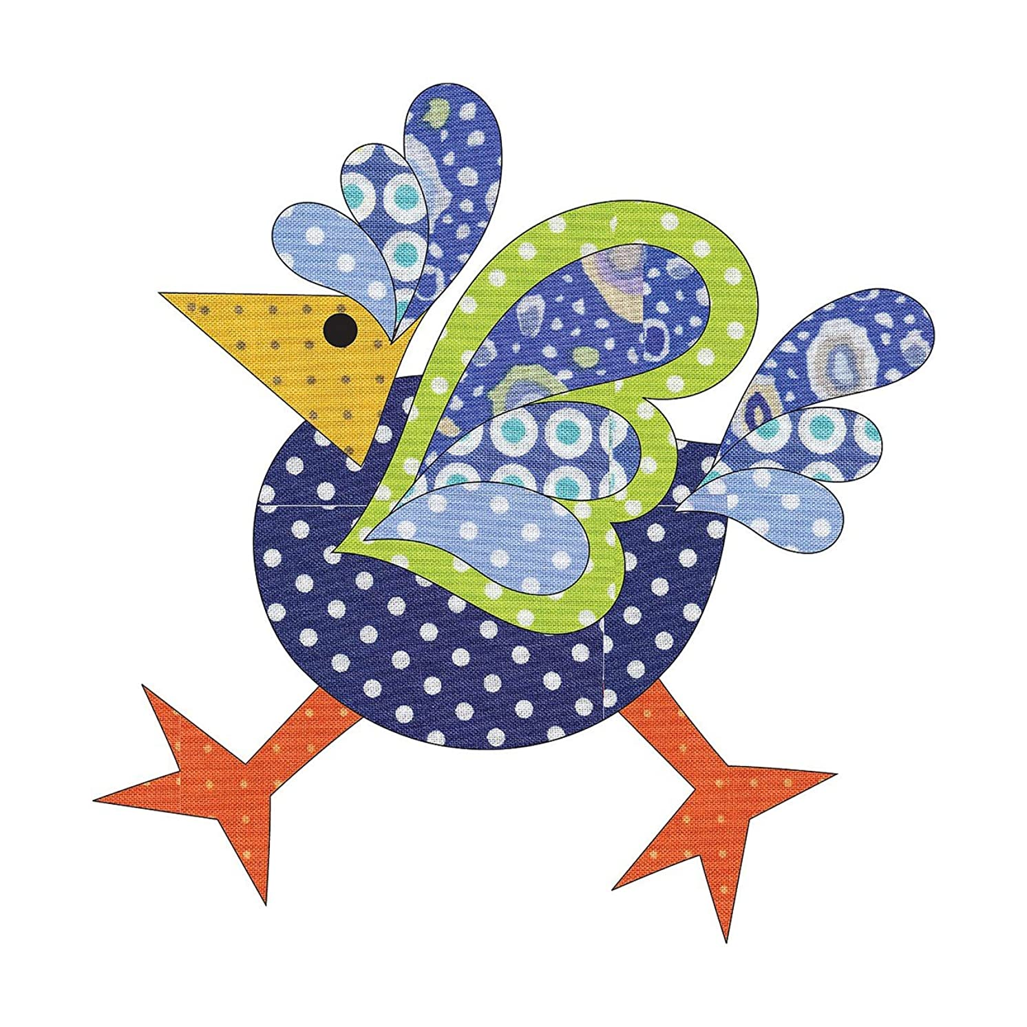 Quilting Creations Laser Cut Fusible Funky Chicken 2 Small Dotz Applique