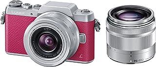 パナソニック ミラーレス一眼カメラ DMC-GF7ダブルズームレンズキット 標準ズームレンズ/望遠ズームレンズ付属 ピンク DMC-GF7W-P