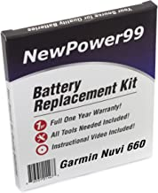 Battery Replacement Kit for Garmin Nuvi 660 with Installation Video, Tools, and Extended Life Battery.