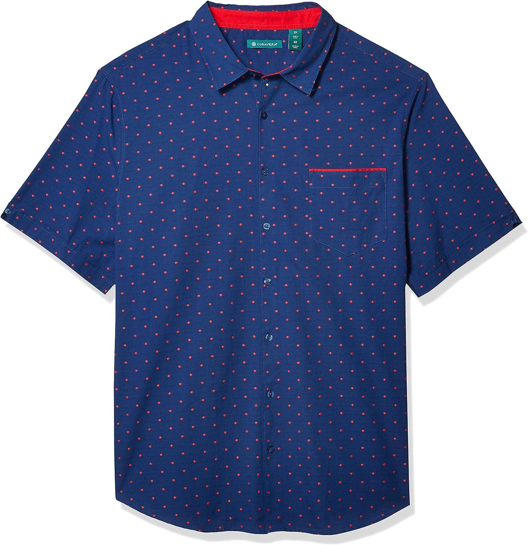 Cubavera Men's Big & Tall One Pocket Dot Jacquard Shirt