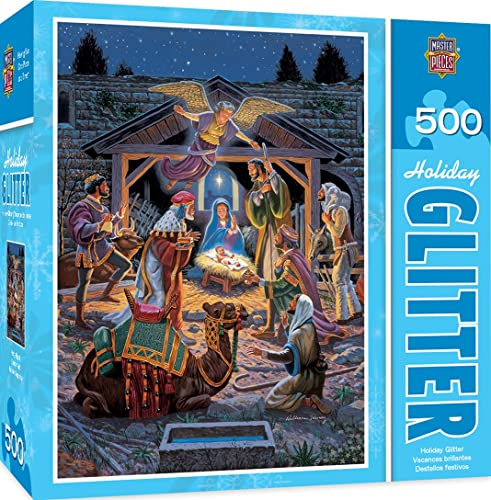 MasterPieces Holiday Glitter - Holy Night 500pc Puzzle