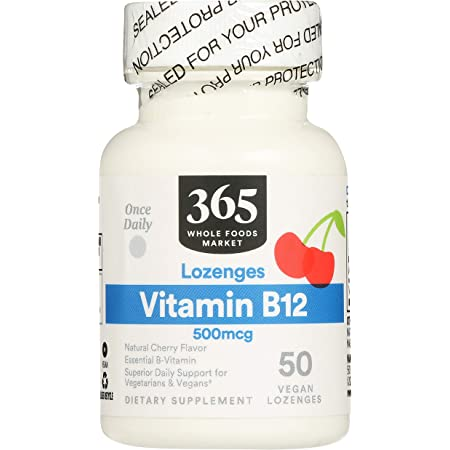 365 by Whole Foods Market, Supplements - Vitamins, B12 500mcg (Vegan Lozenges), 50 Count