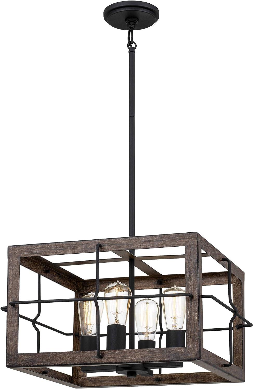 Tawson Max 72% OFF Amos Modern Farmhouse 4-Light wi Ranking TOP2 Pendant Ceiling Lighting