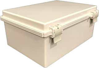 BUD Industries NBF-32022 Plastic ABS NEMA Economy Box with Solid Door, 13-49/64