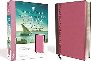 Reina Valera 1960 Biblia de estudio Tras las huellas del Mesías, Leathersoft, Rosado, Interior a Color: Explore las Escrit...
