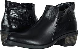 Black/Croc Calf Skin