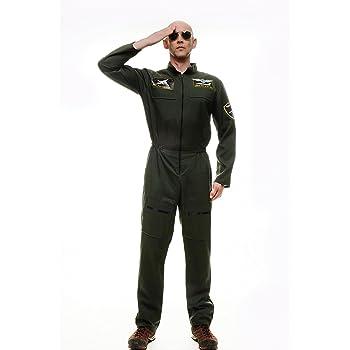 Dress ME UP - Disfraz para Hombre piloto aviación Militar Mono ...