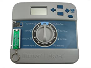 Hunter PRO-C Timer Faceplate Front Panel 821501 for PC-400 PC-400i PCC-600 PCC-600i PCC-1200i PCC-1200 with a Free SprinklerPartsWholesale Flashlight Keychain with Every Order!