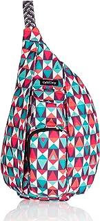 Ambry Mini Rope Sling Bag, One Shoulder Small Crossbody Backpack for Women