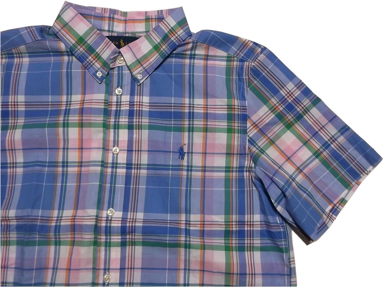 (ポロ ラルフローレン) ボーイズサイズ ボタンダウンシャツ 半袖 ブルー Polo Ralph Lauren 1022 [並行輸入品]