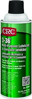 CRC 03005CS 3-36 Multi-Purpose Lubricant & Corrosion Inhibitor, Aerosol Can, 11 oz. Weight, 192 fl. oz, Clear Blue/Green (Pack of 12)