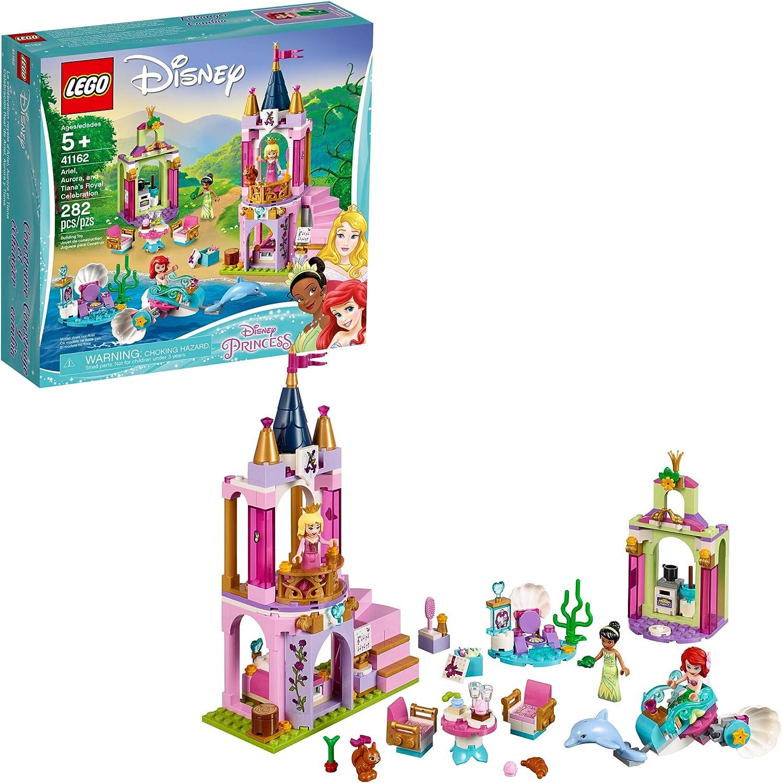LEGO   Disney Aurora, Ariel and Tiana's Royal Celebration 41162 Building Kit (282 Piece)