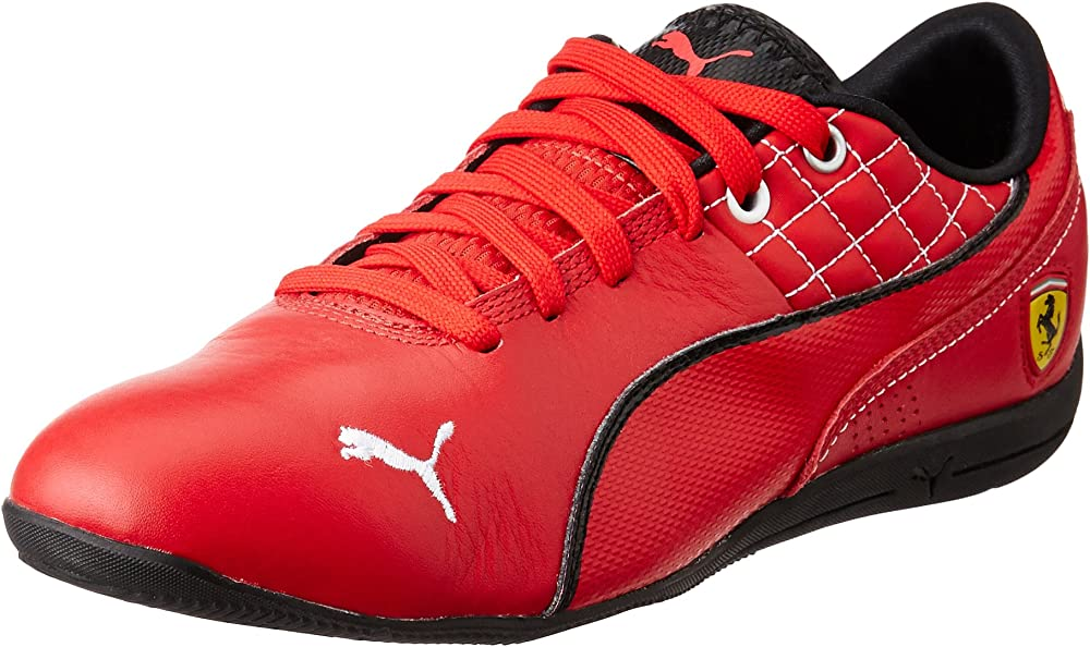 Puma, drift cat 6 sf flash, sneakers da uomo,in pelle, con logo ferrari sul tallone 305291