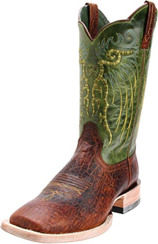 Ariat - Chaussures Chaussures occidentales Professionnelles Mesteno Hommes, 42.5 M EU, Adobe Clay Neon Lime