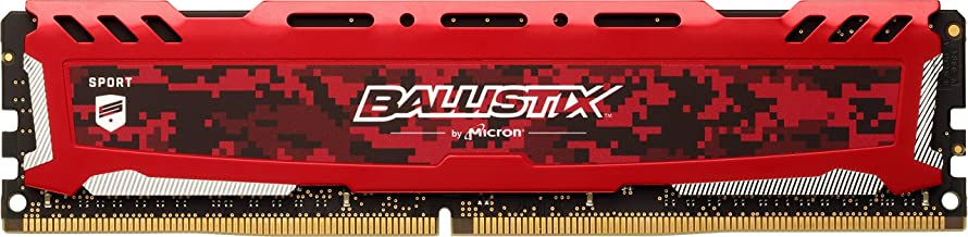 Crucial Ballistix Sport LT 2400 MHz DDR4 DRAM Desktop Gaming Memory Single 8GB CL16 BLS8G4D240FSE (Red)