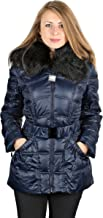 Laundry by Shelli Segal Blue Down Belted Puffer Coat