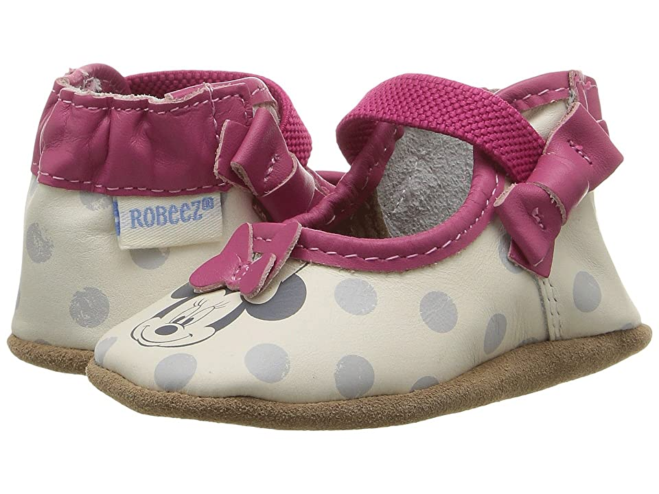 Robeez Disney(r) Baby by Robeez Hey Minnie Mary Jane Soft Sole (Infant/Toddler) (Hot Pink) Girls Shoes