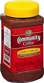 Community Coffee and Chicory Medium Dark Roast Premium Instant 7 Oz Jar (4 Pack), Full Body Rich Flavorful Taste, 100% Select Arabica Beans