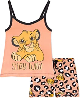 Disney Lion King Girls Pyjamas, Official Merchandise, Short Kids PJs with Simba