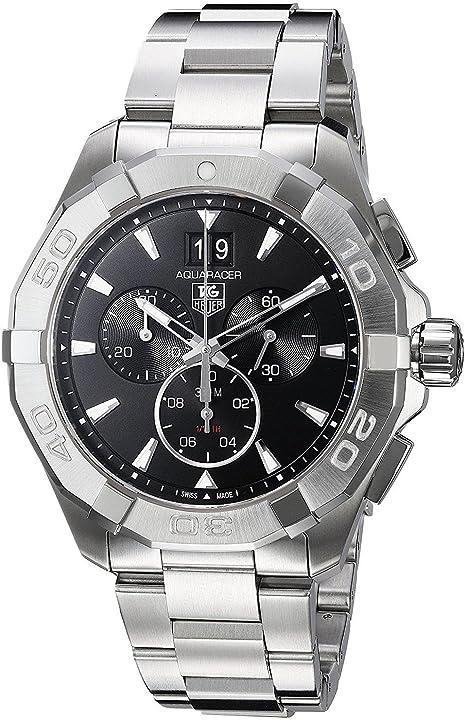 orologio tag heuer men`s 43mm steel bracelet & case quartz watch cay1110.ba0927