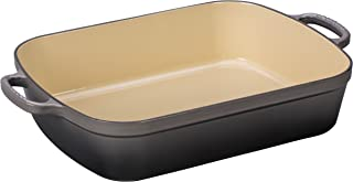 Le Creuset Signature Cast Iron Rectangular Roaster, 7.0-Quart, Oyster