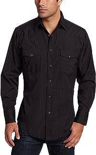 Men's Tall Sport Western Snap Shirt in Dobby Stripe