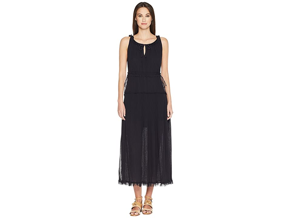 36e7301b16a See by Chloe Lacey Jersey Maxi Dress (Ink Navy) Women s Dress