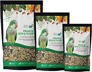 BirdsNature Premium Seed & Veggie Mix for for Medium Birds,Cockatiels,Caiques,Small Conure,Lories and Lorikeets,Poicephalu...