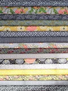 Black Grey Dandi Annie Half Yard Fabric Bundle - Robin Pickens AM02
