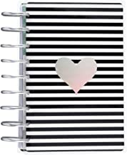 me & my BIG ideas The Happy Planner Sticker Book - Black & White Stripes With Rainbow Foil - Disc-bound Sticker Storage Book - For Organizing Stickers - 5 Dividers - Sturdy Laminated Covers