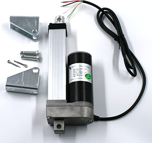 """Zoom Industrial Linear Actuator 4"""" Inch Stroke 330 Pound Max Lift DC 12v/24v Position Feedback Weather Resistant"""