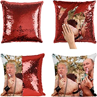 Putin Trump Sexy Bodies Funny_P007 Sequin Pillow, Sequin Pillowcase, Two Color Pillow, Fift for her, Gift for him, Magic Pillow, Mermaid Pillow, Scales Pillow Cover