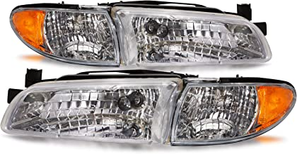 HEADLIGHTSDEPOT Compatible with Pontiac Grand Prix New Headlamps Set Headlights Pair