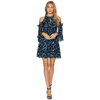 Rachel Zoe Feather Print Vikki Dress (Multi) Women