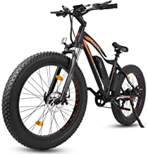 ECOTRIC Fat Tire Powerful Electric Bike Black Beach Snow Mountain 26