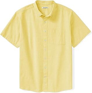 Amazon Essentials Men's Big & Tall Short-Sleeve Pocket Oxford Shirt fit by DXL