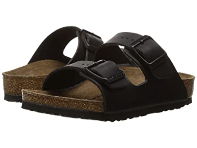 Birkenstock Kids Arizona (Toddler/Little Kid/Big Kid) (Black Birko-Flor) Girls Shoes