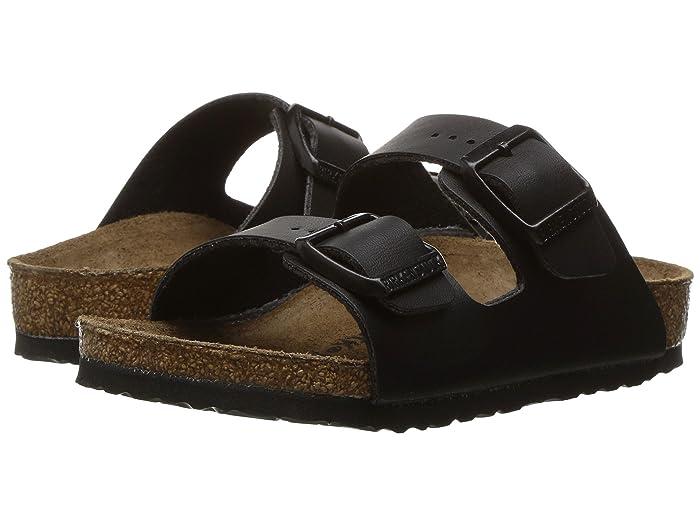 Birkenstock Kids  Arizona (Toddler/Little Kid/Big Kid) (Black Birko-Flor) Girls Shoes