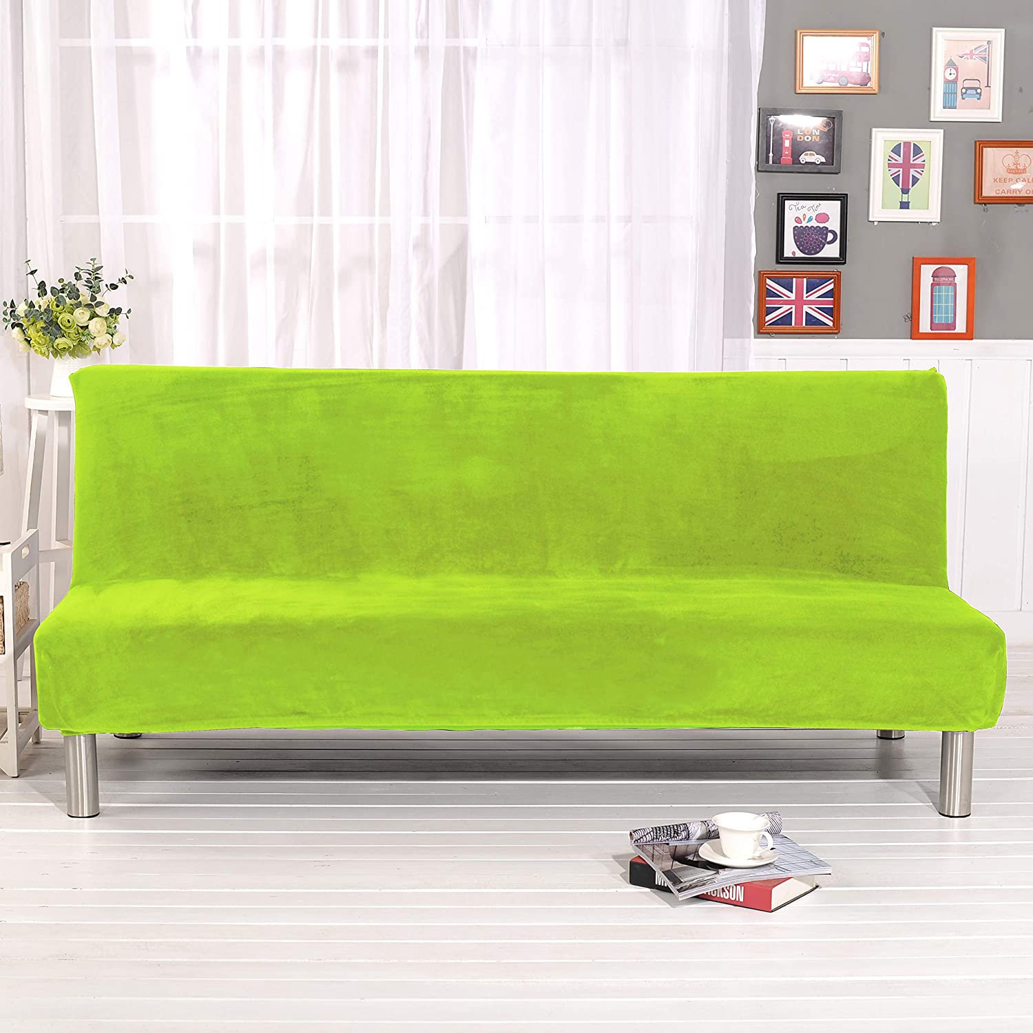 Velvet Sofa Bed Covers Some reservation Polyester Tampa Mall Futon Spandex Stretch Fabric Sl