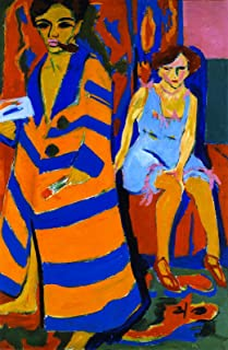 Aenx Ernst Ludwig Kirchner - Self-Portrait with Model Hamburger Kunsthalle 30