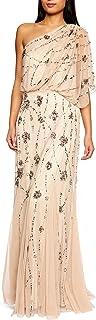 Women's One Shoulder Beaded Blouson Dress