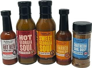 Southern Soul Barbeque BBQ Sauce - Award Winning BBQ Sauce, Hot Sauce, and Dry Rub Seasoning Mix Bundle