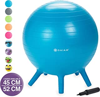Gaiam Kids Stay-N-Play Children's Balance Ball – Flexible School Chair Active..