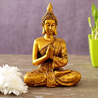 TIED RIBBONS Buddha Statue for Home Décor- Buddha Showpiece Sculpture Figurine for Home Decoration and Garden
