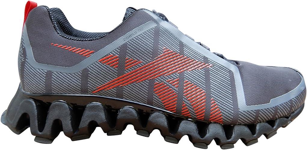 Reebok Mens ZigWild TR 2 Running chaussures, 8.5 D(M) US, Ash gris, noir, rouge, Gravel