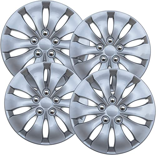 popular 16 inch popular Hubcaps Best for 2008-2012 Honda Accord - (Set of 4) Wheel Covers 16in Hub new arrival Caps Silver Rim Cover - Car Accessories for 16 inch Wheels - Snap On Hubcap, Auto Tire Replacement Exterior Cap sale
