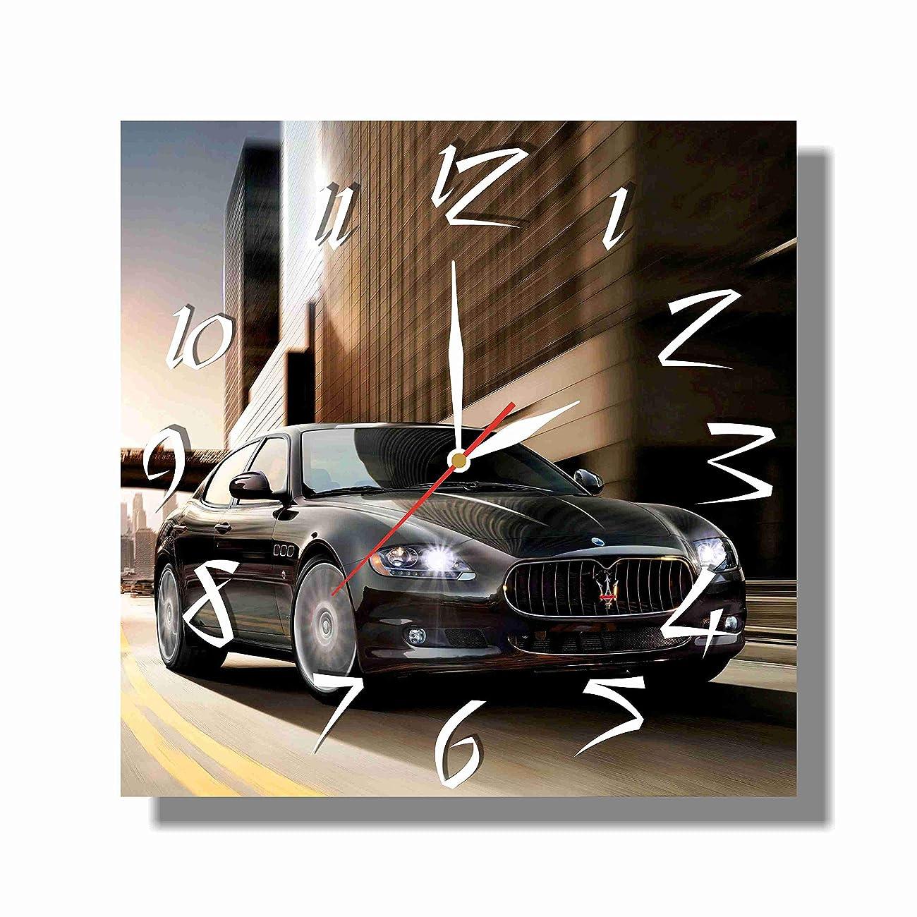 ホームレス些細患者Maserati Quattroporte 11'' 壁時計(マセラティクアトロポルテ)あなたの友人のための最高の贈り物。あなたの家のためのオリジナルデザイン